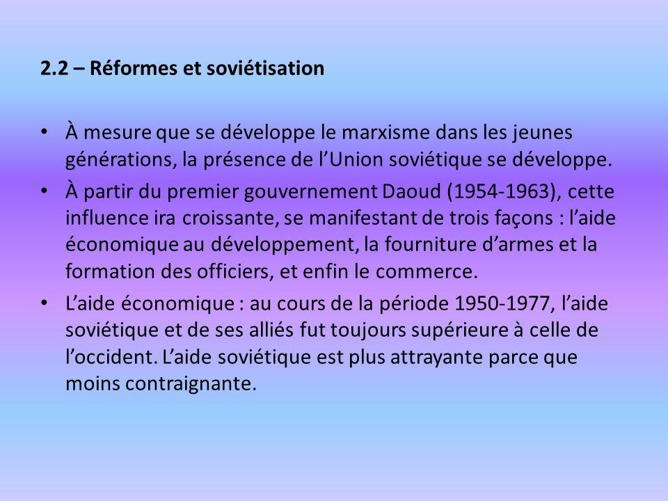 2.2 – Réformes et soviétisation