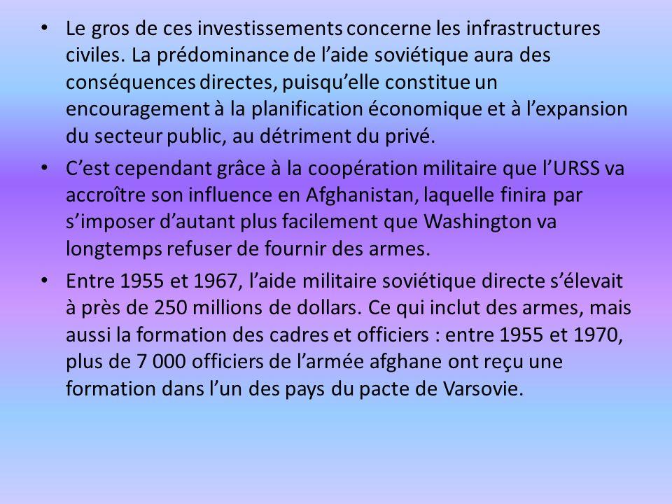 Le gros de ces investissements concerne les infrastructures civiles