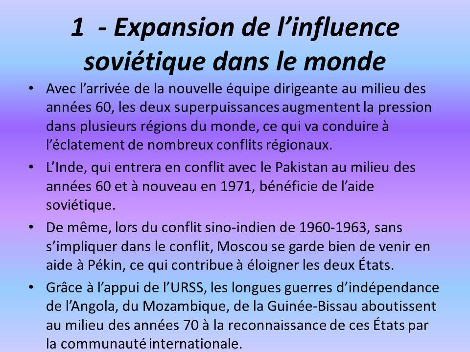 1 - Expansion de l'influence soviétique dans le monde