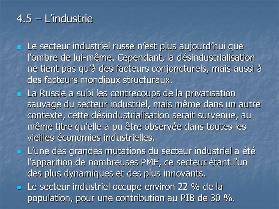 4.5 – L'industrie