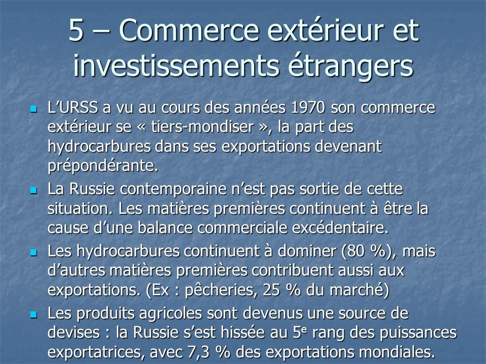 5 – Commerce extérieur et investissements étrangers