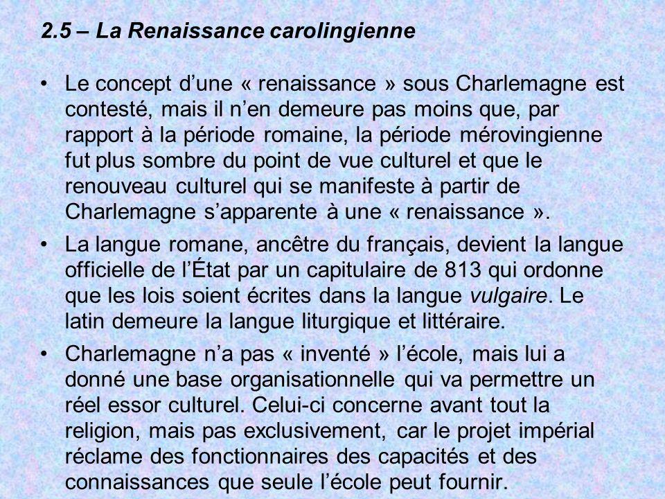 2.5 – La Renaissance carolingienne
