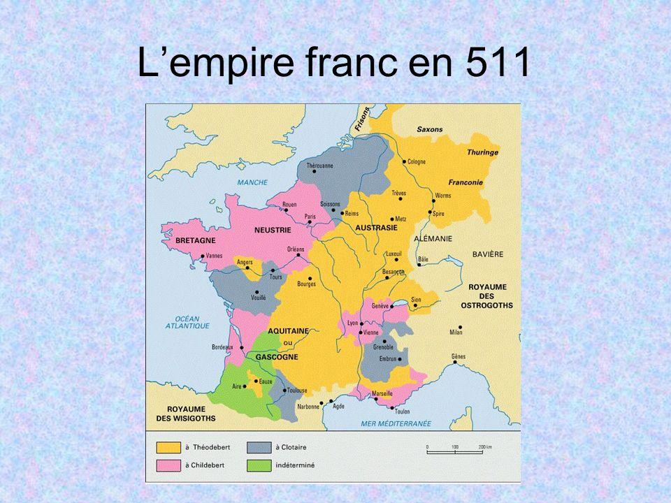 L'empire franc en 511