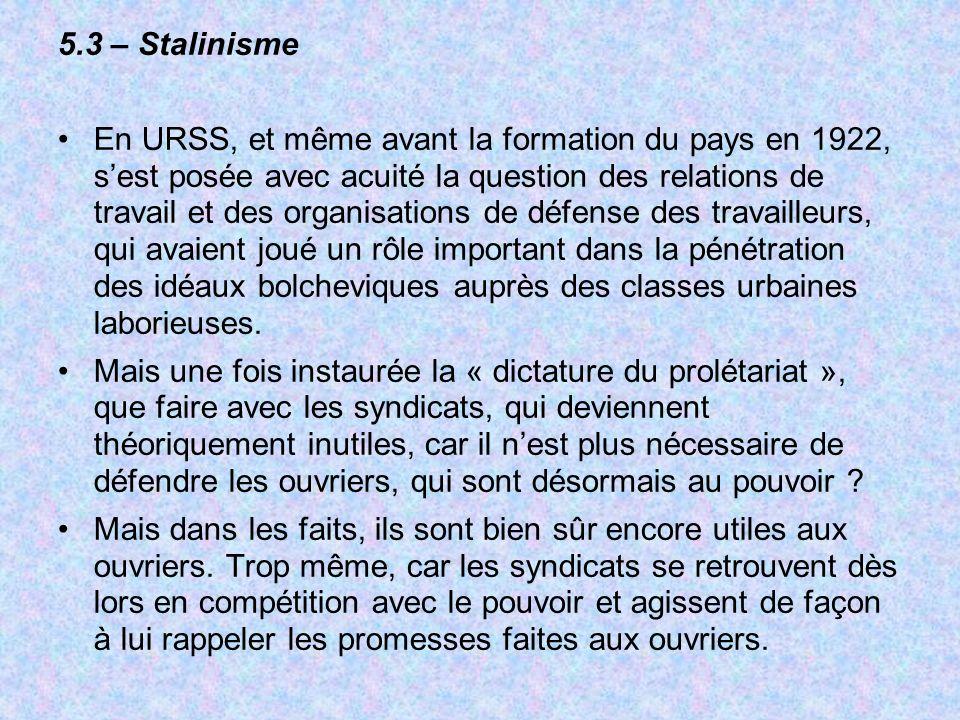 5.3 – Stalinisme
