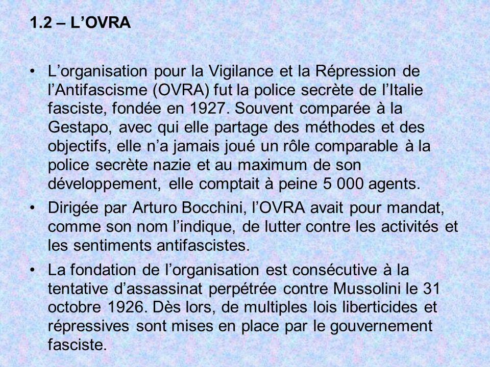 1.2 – L'OVRA