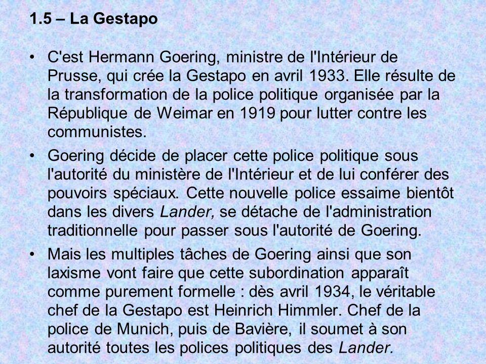 1.5 – La Gestapo