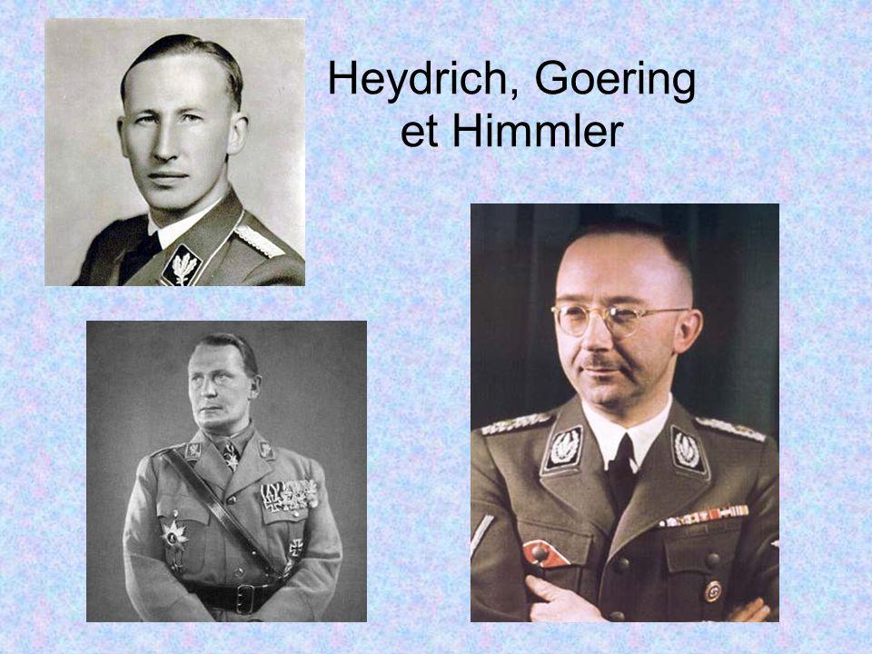 Heydrich, Goering et Himmler