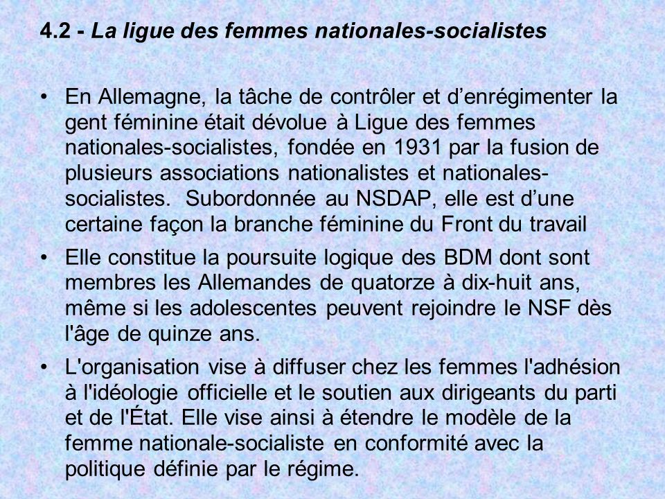 4.2 - La ligue des femmes nationales-socialistes
