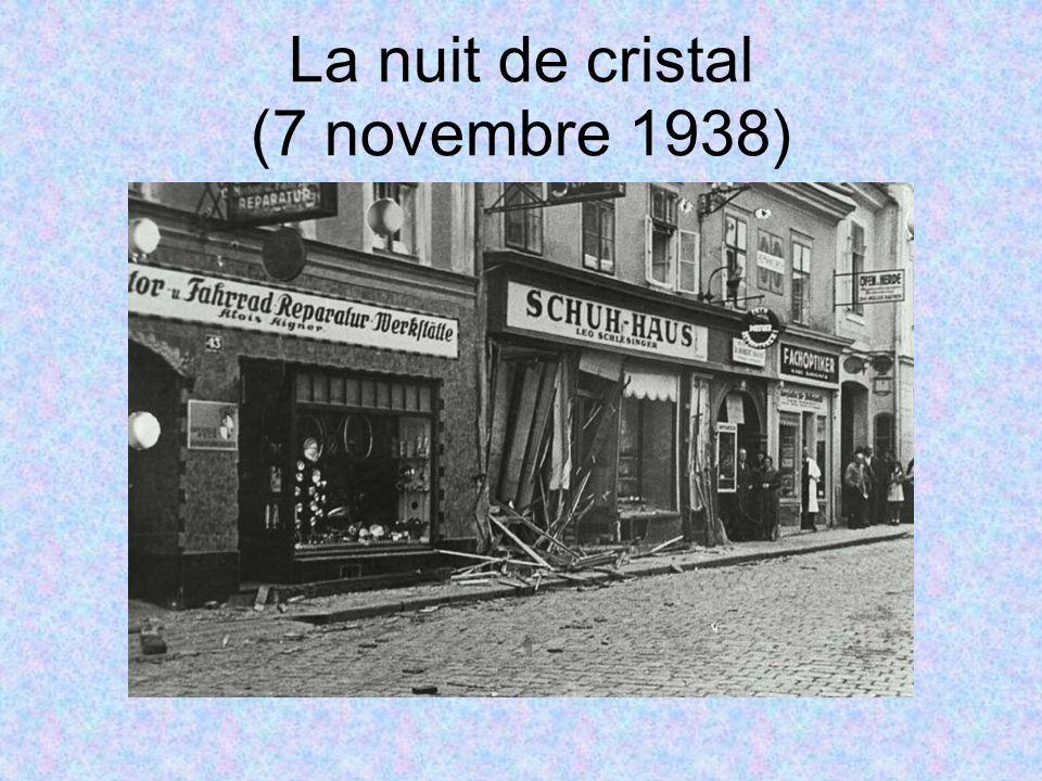 La nuit de cristal (7 novembre 1938)