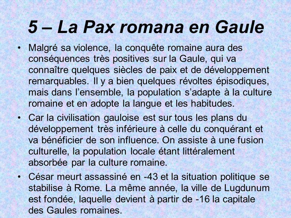 5 – La Pax romana en Gaule
