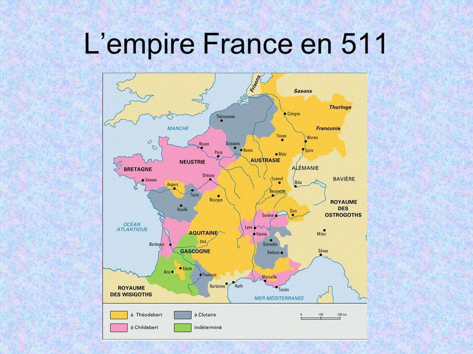 L'empire France en 511