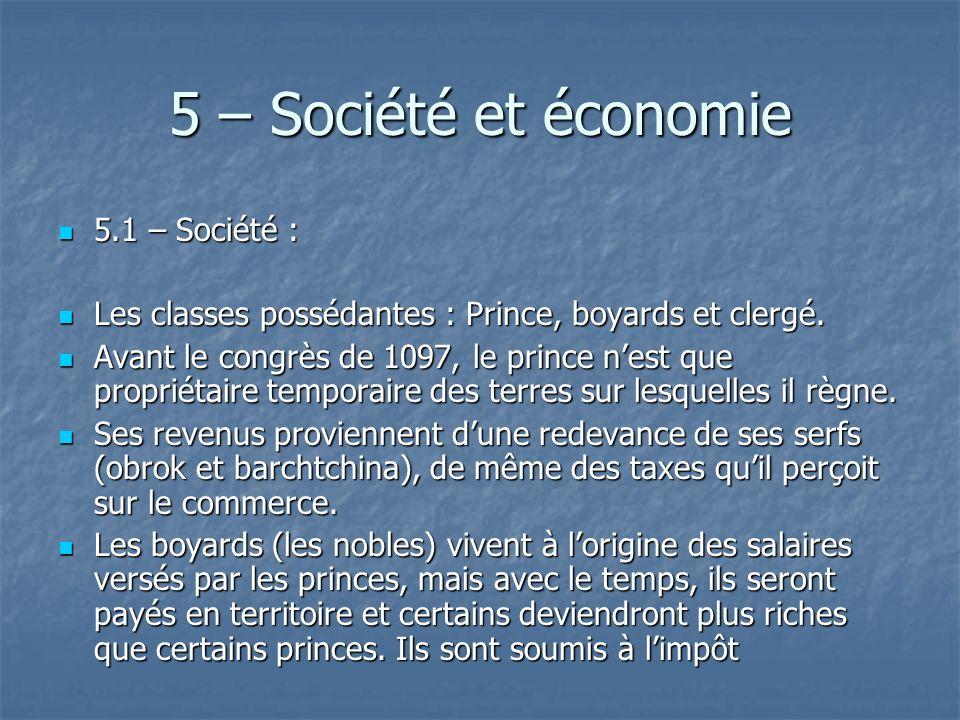 5 – Société et économie 5.1 – Société :
