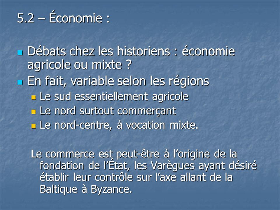 Débats chez les historiens : économie agricole ou mixte