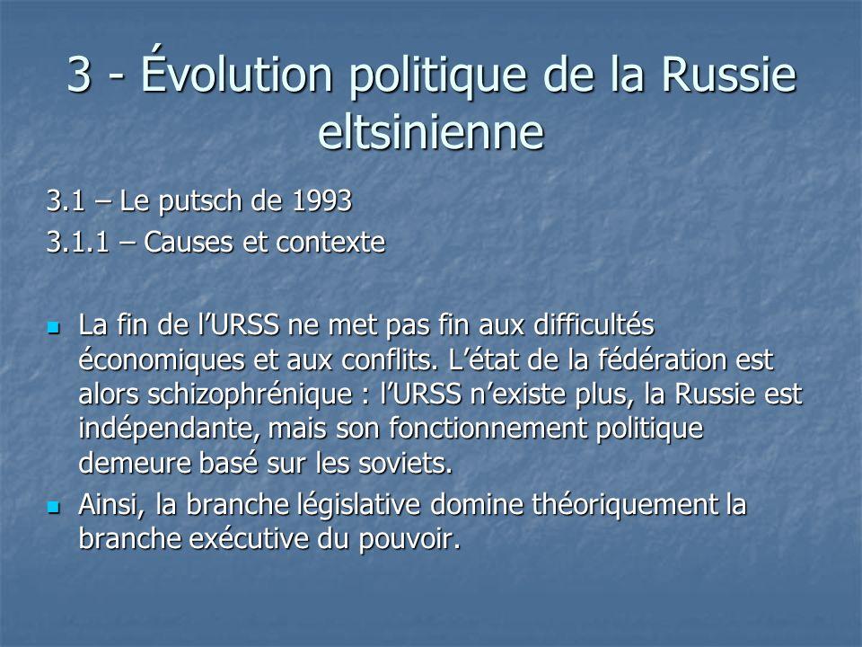 3 - Évolution politique de la Russie eltsinienne