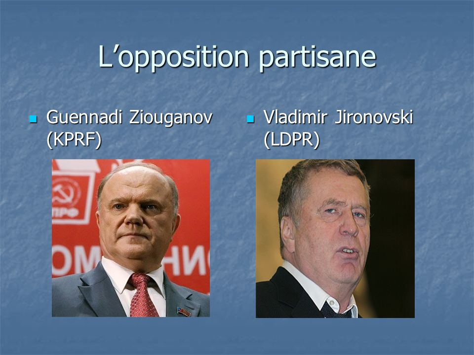 L'opposition partisane