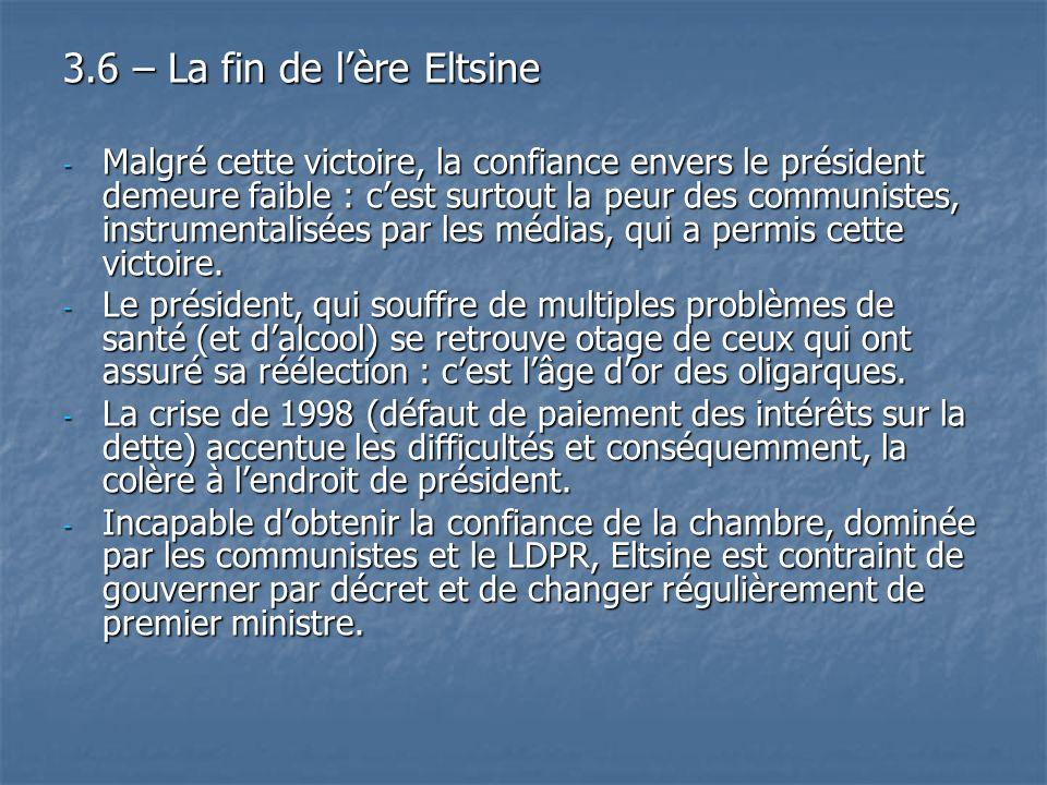 3.6 – La fin de l'ère Eltsine