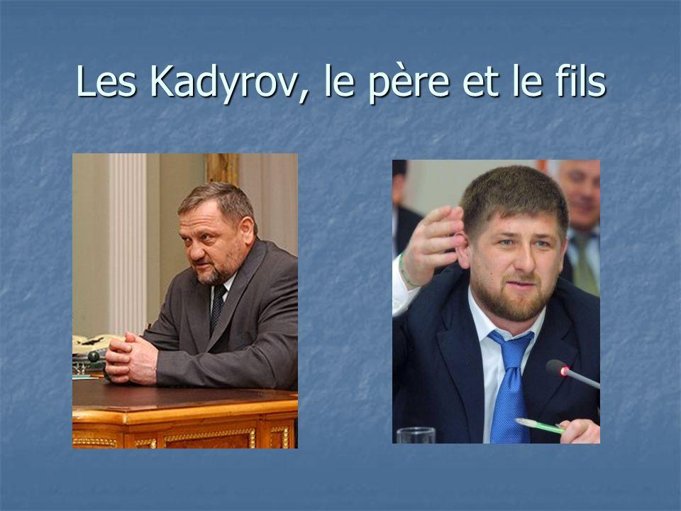 Les Kadyrov, le père et le fils