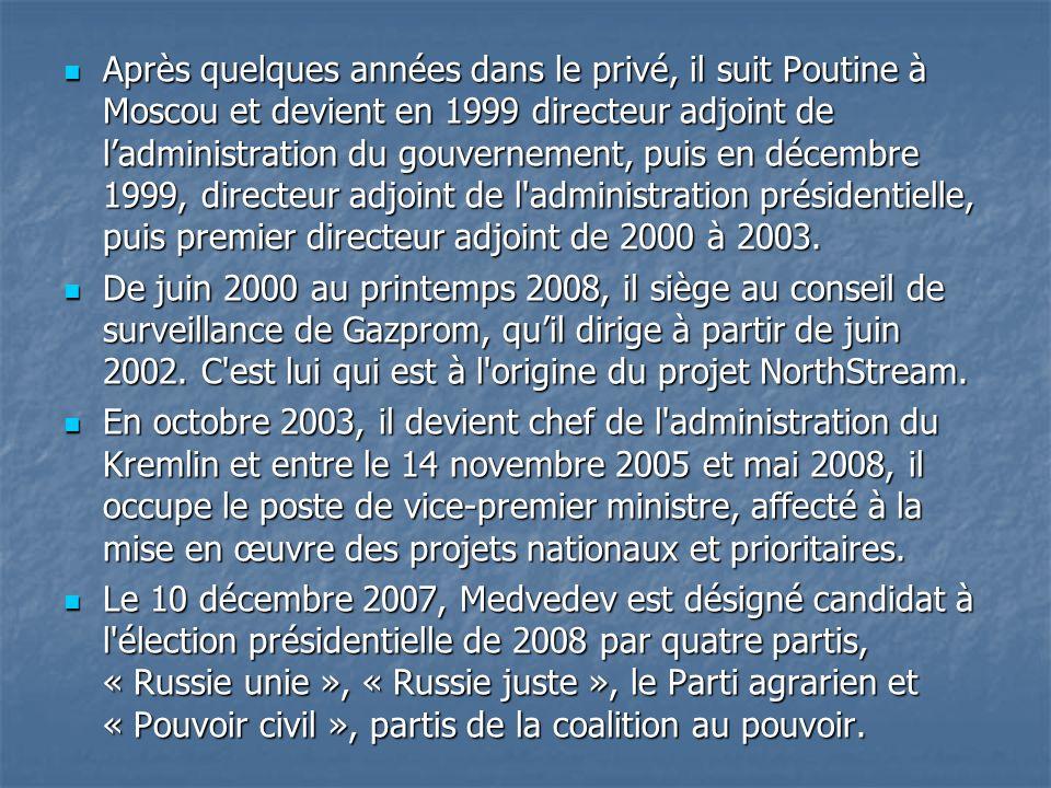 Après quelques années dans le privé, il suit Poutine à Moscou et devient en 1999 directeur adjoint de l'administration du gouvernement, puis en décembre 1999, directeur adjoint de l administration présidentielle, puis premier directeur adjoint de 2000 à 2003.