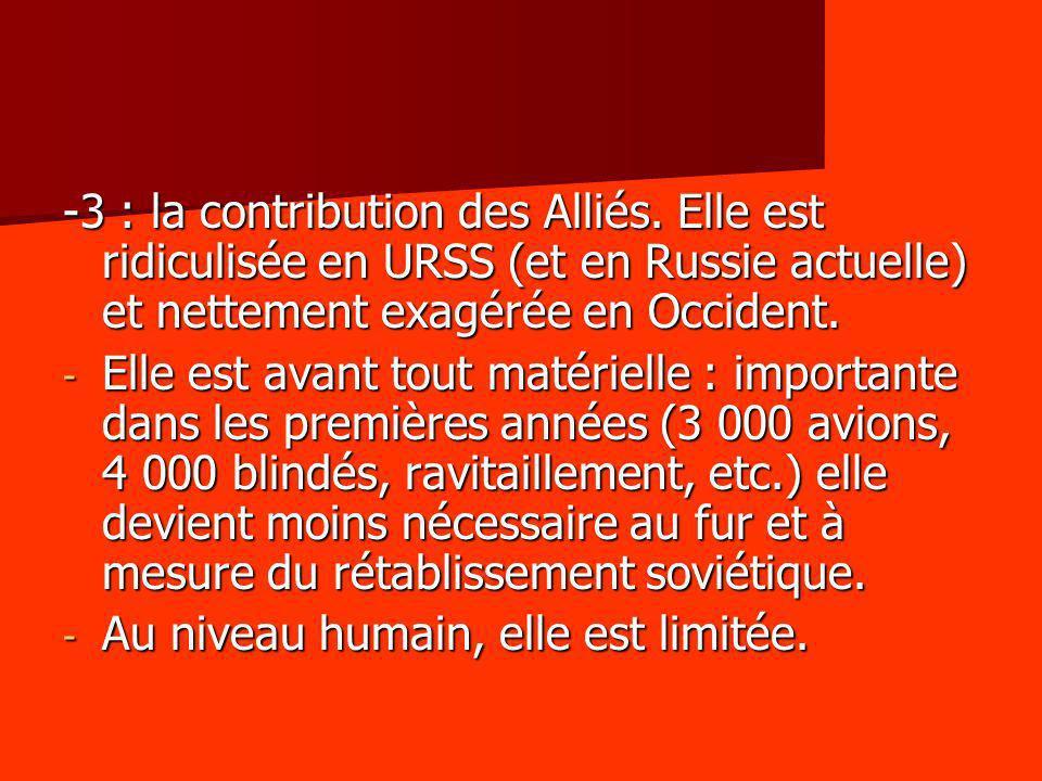 -3 : la contribution des Alliés