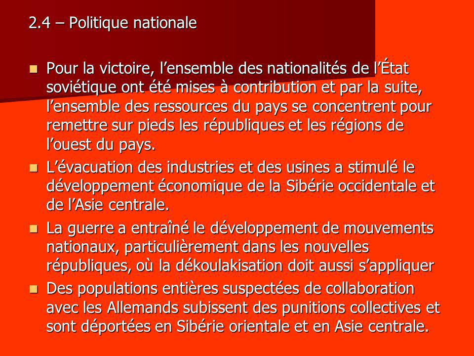 2.4 – Politique nationale