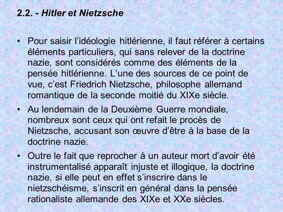 2.2. - Hitler et Nietzsche