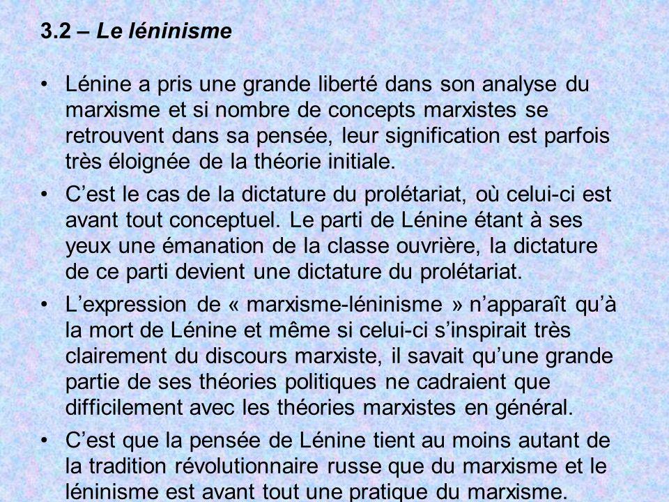 3.2 – Le léninisme