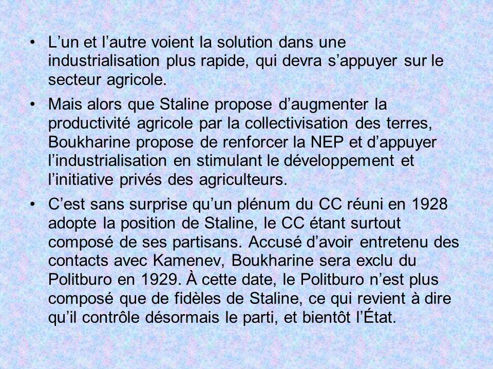 L'un et l'autre voient la solution dans une industrialisation plus rapide, qui devra s'appuyer sur le secteur agricole.