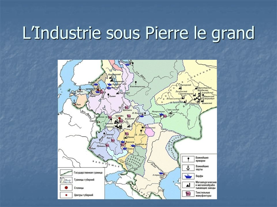 L'Industrie sous Pierre le grand