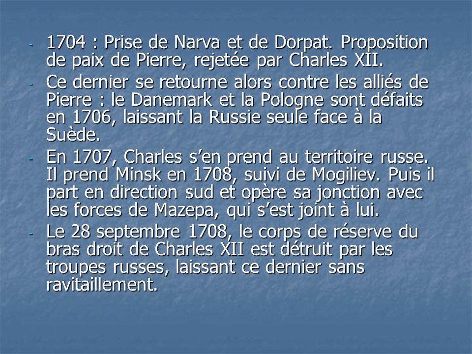 1704 : Prise de Narva et de Dorpat