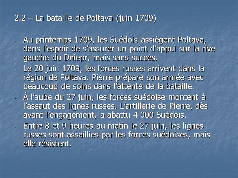 2.2 – La bataille de Poltava (juin 1709)