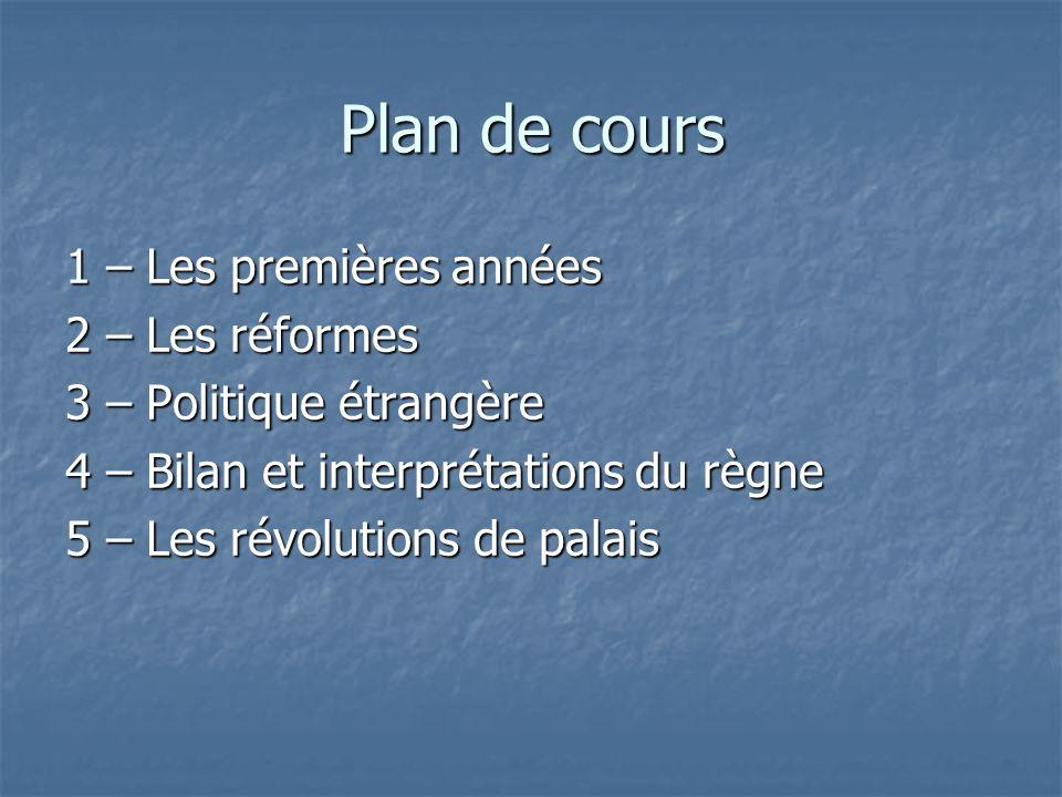 Plan de cours 1 – Les premières années 2 – Les réformes