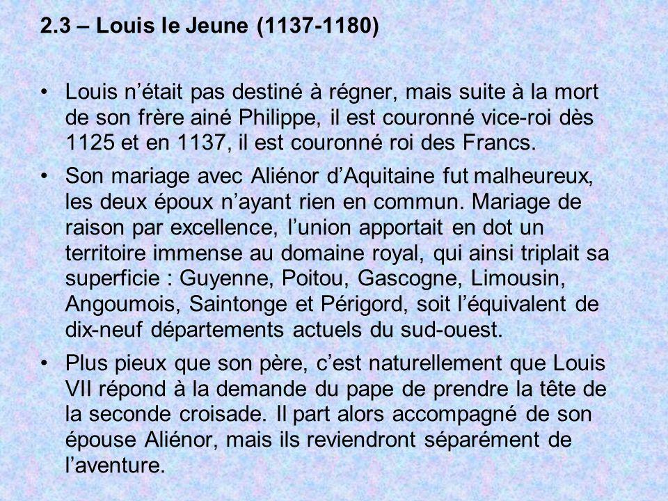 2.3 – Louis le Jeune (1137-1180)