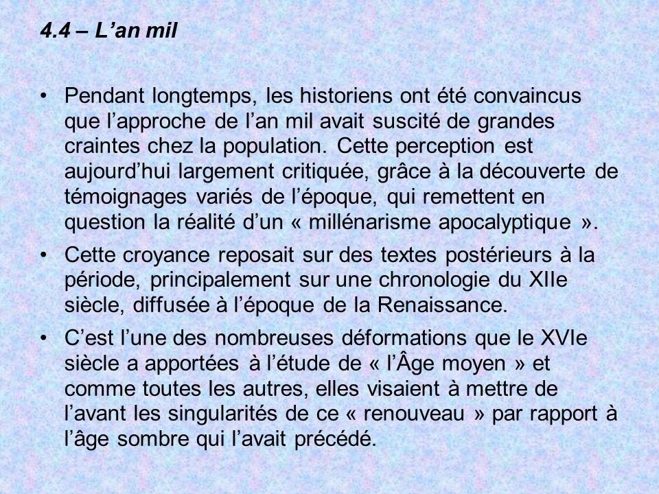 4.4 – L'an mil