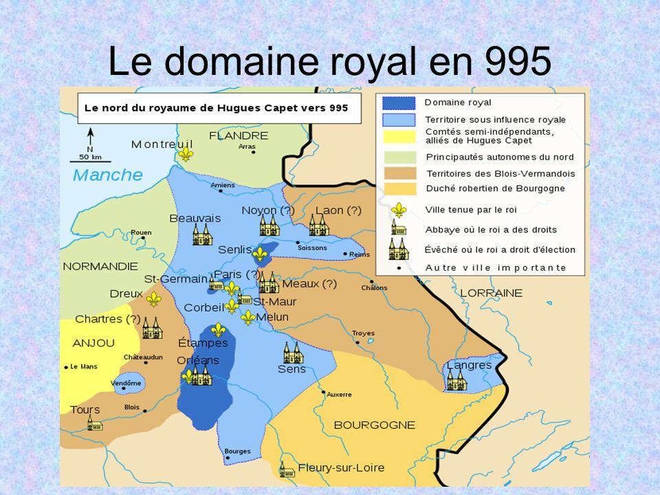 Le domaine royal en 995