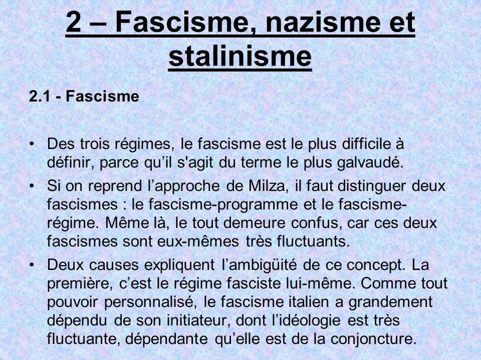 2 – Fascisme, nazisme et stalinisme