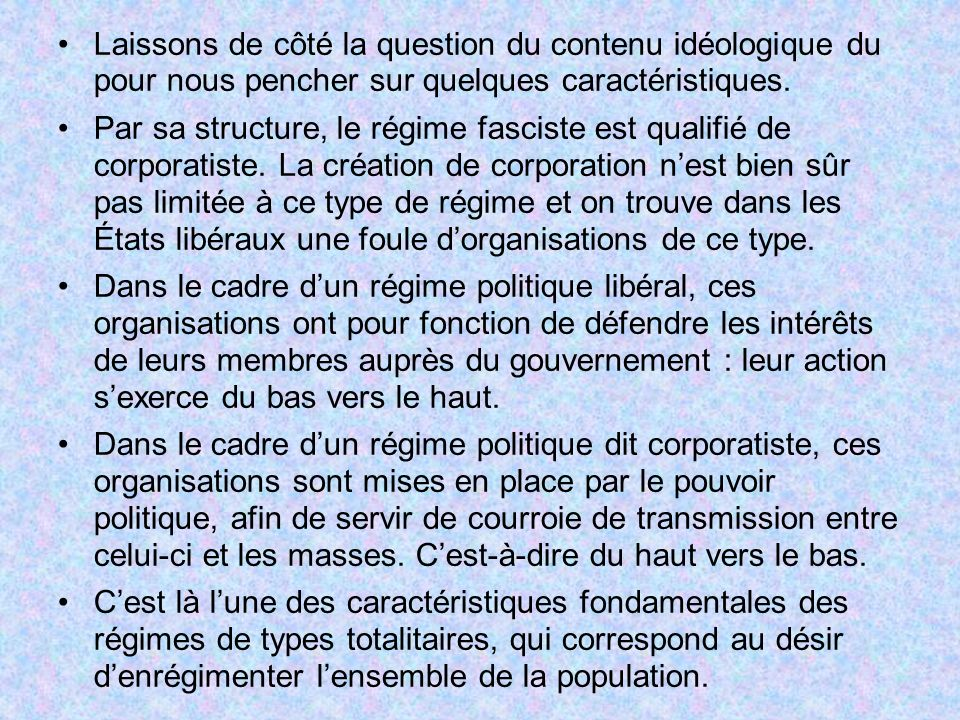 Laissons de côté la question du contenu idéologique du pour nous pencher sur quelques caractéristiques.
