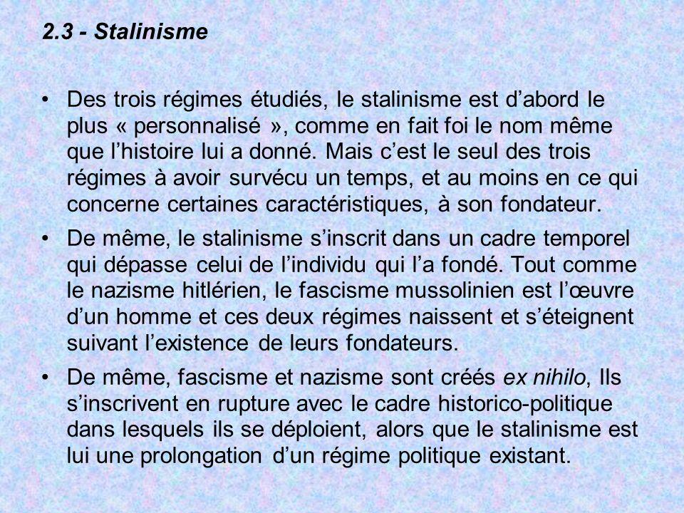 2.3 - Stalinisme
