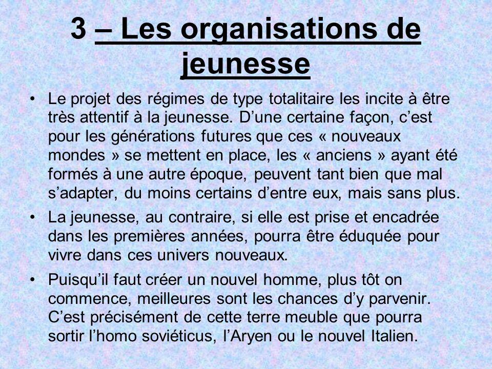 3 – Les organisations de jeunesse
