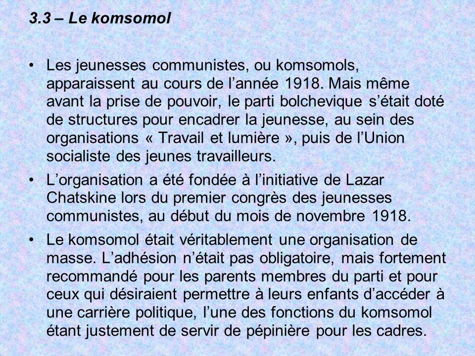 3.3 – Le komsomol