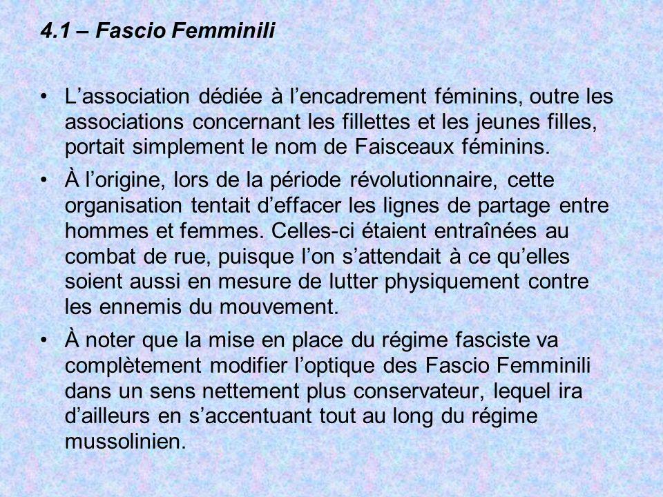 4.1 – Fascio Femminili