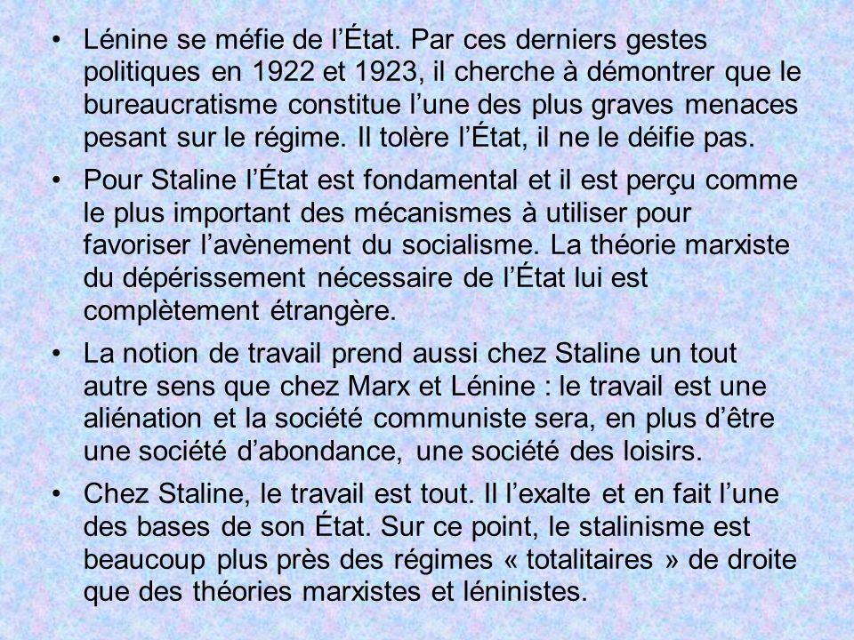 Lénine se méfie de l'État