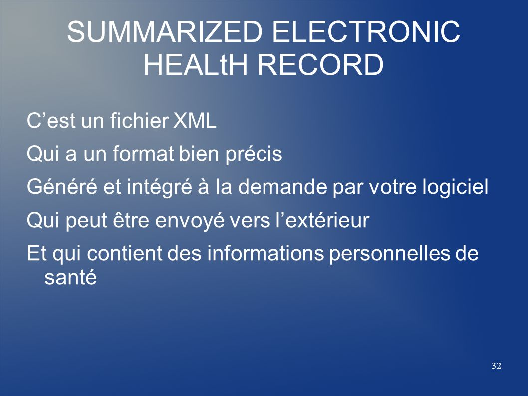 SUMMARIZED ELECTRONIC HEALtH RECORD