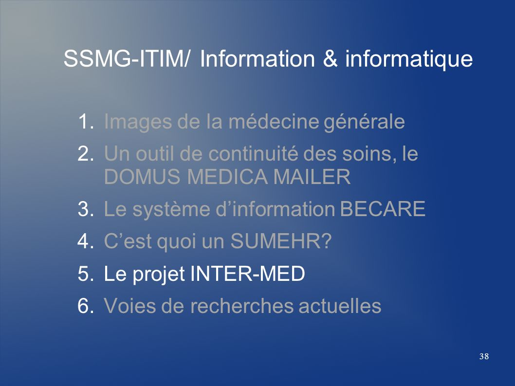 SSMG-ITIM/ Information & informatique