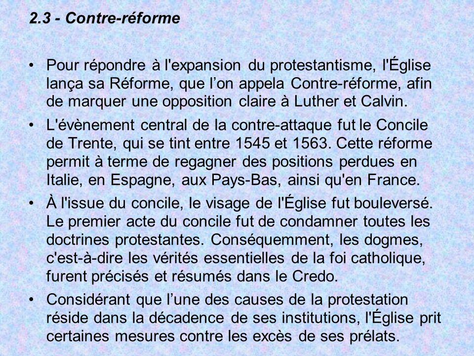 2.3 - Contre-réforme