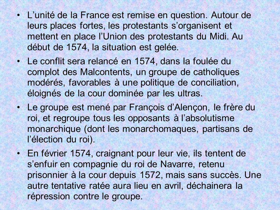 L'unité de la France est remise en question