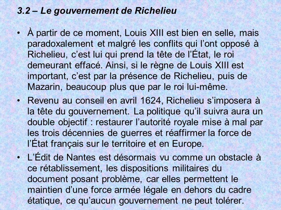3.2 – Le gouvernement de Richelieu