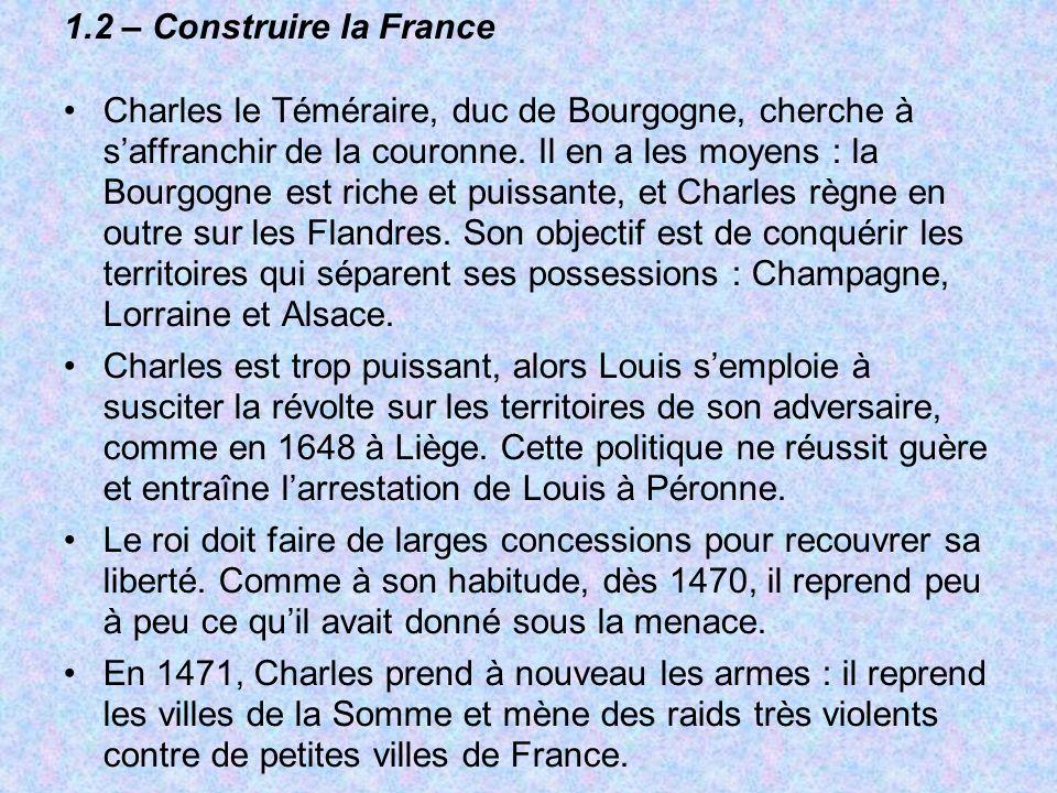 1.2 – Construire la France
