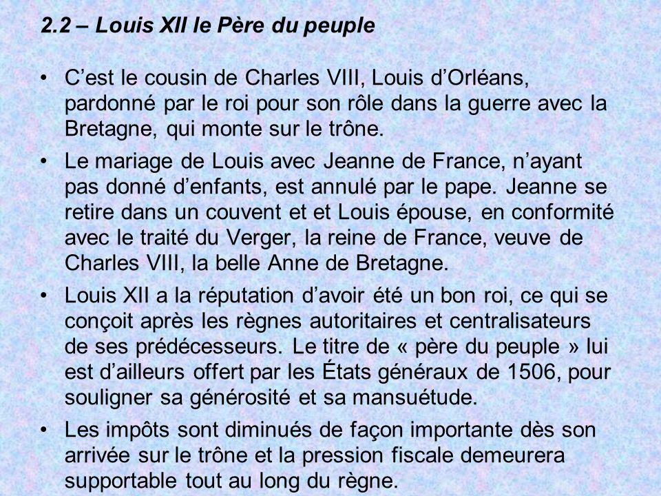 2.2 – Louis XII le Père du peuple
