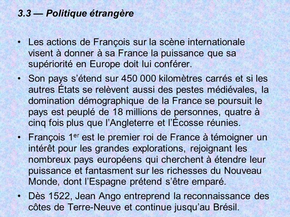 3.3 — Politique étrangère