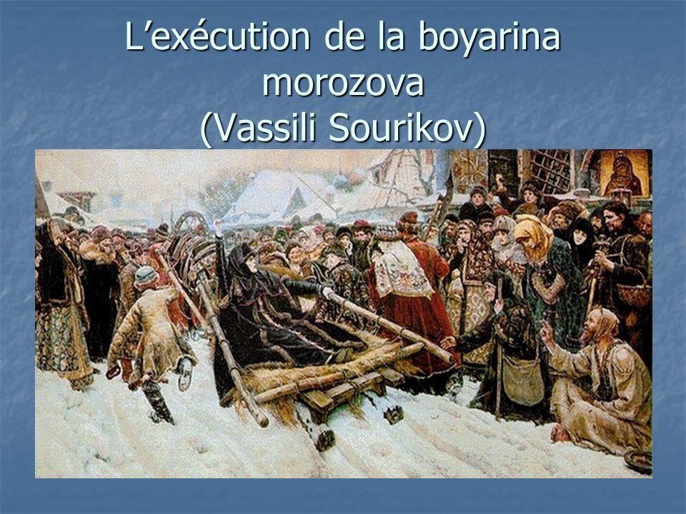 L'exécution de la boyarina morozova (Vassili Sourikov)